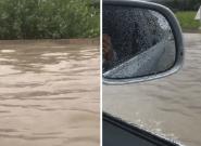 Orages: près d'Avignon, les fortes pluies ont transformé l'autoroute A7 en
