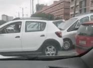 Graban en vídeo a la conductora más optimista de la
