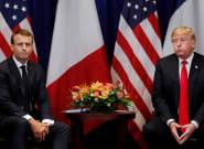 Assemblée générale de l'ONU: les images de la rencontre entre Macron et Trump (qui cherchent à atténuer leurs