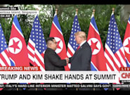 Trump And Kim Jong Un Shake Hands Ahead Of Historic North Korea
