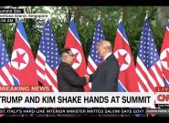 Trump And Kim Jong Un Shake Hands Ahead Of Historic North Korea