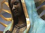 Investigan una estatua de la Virgen María que