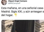La imagen de una empleada del hogar jugándose la vida en Madrid que indigna en