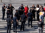 La actriz Jane Fonda, detenida en una protesta contra el cambio climático en