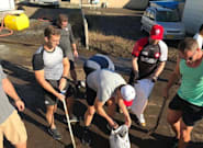 Canada's Rugby Team Helps With Typhoon Hagibis Clean Up In
