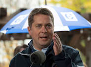 Andrew Scheer Defends Made-Up Claim That Liberal-NDP Coalition Would Hike