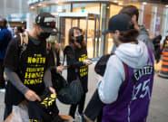 "▶️ Activists Hand Out ""Stand With Hong Kong"" T-Shirts At Toronto Raptors"