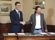 Sánchez e Iglesias comparecen juntos en el