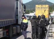 Un camionero detenido tras cargar contra los manifestantes en la