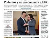 El detalle más comentado de la portada de 'El Mundo' tras el pacto de Sánchez e