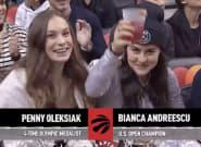 Bianca Andreescu, Penny Oleksiak Put On A Show At Toronto Raptors