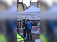 À Grenoble, le stand d'une candidate LREM aux municipales dégradé par des