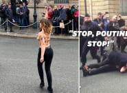 Vladimir Poutine accueilli par des Femen à