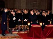 Los reyes y los reyes eméritos asisten al funeral por Pilar de Borbón en El