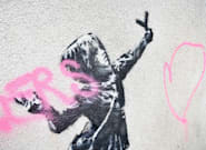 Banksy se réjouit que son œuvre de la Saint-Valentin ait été