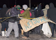 Protesters End Rail Blockade In Quebec After Arrival Of Riot