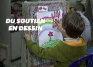 Ces enfants russes dessinent contre le