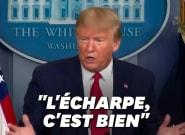 Coronavirus: Trump préconise l'écharpe face au manque de