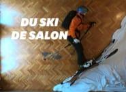 En plein confinement, ce Barcelonais ski au milieu de son