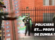 Pendant le confinement, les cours de Zumba de la police