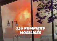 11 pompiers blessés dans un impressionnant incendie à Los