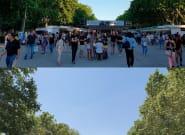 Así es el Parque del Retiro con la Feria del Libro de Madrid y sin ella en
