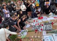 Decenas de personas celebran una vigilia en Barcelona en honor a George