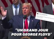 Donald Trump invoque George Floyd au milieu des chiffres du