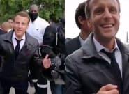 Macron es recibido a gritos por los 'chalecos amarillos' en plena