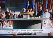 Críticas a TVE por el fallo en este rótulo durante el homenaje de Estado: