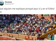 Una tuitera triunfa con su respuesta a esta polémica imagen vista en la plaza de toros de