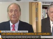 Ansón culpa al fallecido Hugo Chávez y a Podemos de la salida de Juan Carlos I de
