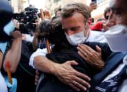 Quand il a pris dans ses bras une Libanaise de Beyrouth, c'est tout le pays que le Président Macron a