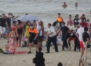 Batalla campal en una playa de Bélgica por jóvenes que no respetaban las medidas