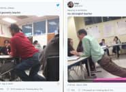 Ces poses improbables de profs au bureau de leurs élèves vont vous