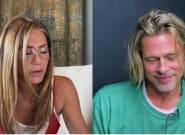 Brad Pitt y Jennifer Aniston se reúnen, con tonteo