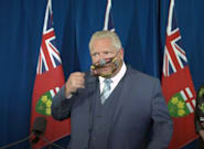 Doug Ford Shows Off Accessible Face Mask That Allows Lip