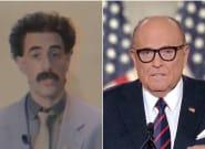 Borat défend Rudy Giuliani, l'avocat de Trump, après l'avoir