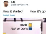 Un tuitero arrasa al resumir con sólo dos fotos lo que está pasando en la segunda ola de