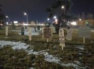 Graveyard Slamming COVID-19 Response Appears Outside Alberta Health Minister's