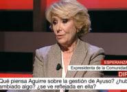Esperanza Aguirre se enfrenta a María Rey en su vuelta a Telemadrid tras llamarla