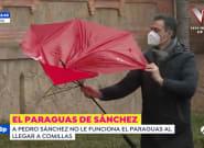 La pelea de Pedro Sánchez y su paraguas en Cantabria: 'spoiler', sale