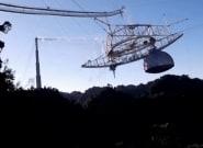 Colapsa un radiotelescopio de 900 toneladas que apareció en James