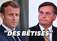 Bolsonaro accuse Macron de mentir sur le soja et la déforestation en