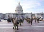 Près du Capitole à Washington, un homme lourdement armé