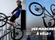 Aurélien Fontenoy a grimpé une tour de La Défense... à vélo