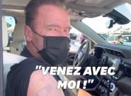 Arnold Schwarzenegger s'est fait drive-vacciner aux