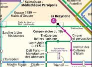 Ce plan du métro remplace les stations de Paris par des musées et salles de