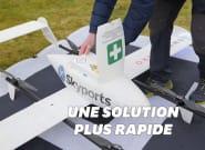Des tests covid-19 transportés par drones en
