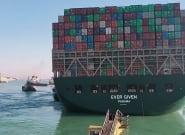 Canal de Suez: L'Égypte réclame 900 millions de dollars de